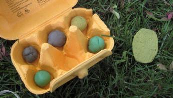 Gartenspiel: Zerquetschte Eier