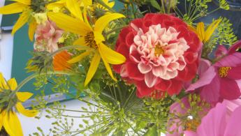 Blumensträußchen binden