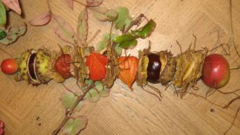 Herbstlicher Früchtespieß